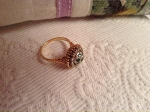 18 kt emeralds and diamonds 1950