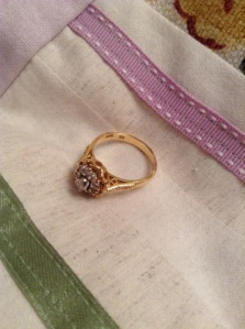 18kt gold with .25 diamond, 1945