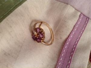 amethyst and diamonds , handmade 1960