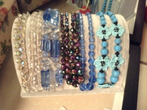 blue glass necklaces