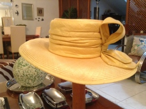 yellow silk hat