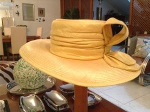 yellow silk hat